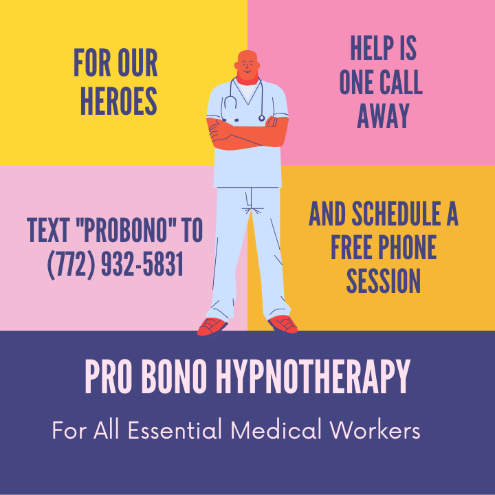 Pro bono Hypnotherapy Sessions for Essential Medical Workers